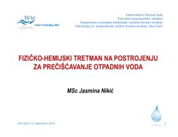 Fizičko-hemijski tretman otpadnih voda i
