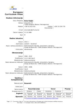 Europass CV - etf.unsa.ba