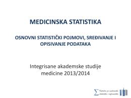 MEDICINSKA STATISTIKA