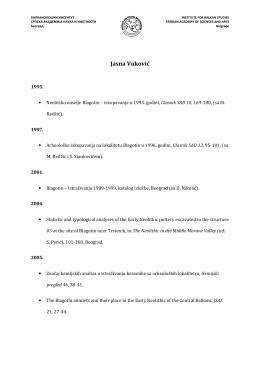 Библиографија - Балканолошки институт