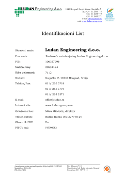 Identifikacioni List - Ludan Engineering doo