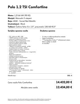 Polo Comfortline 1.2 tsi metalik