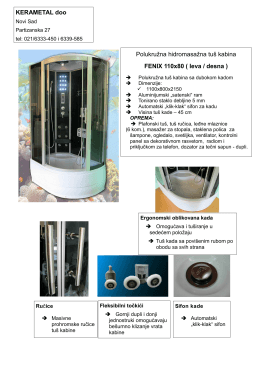 Polukružna hidromasažna tuš kabina FENIX 110x80 ( leva / desna )