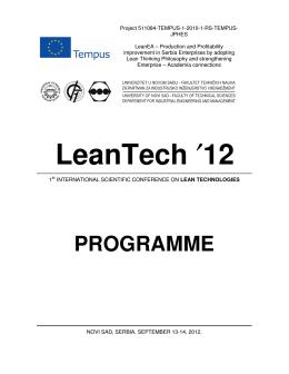 LeanTech`12 Conference Programme