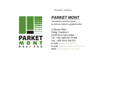 Reference - Parket Mont