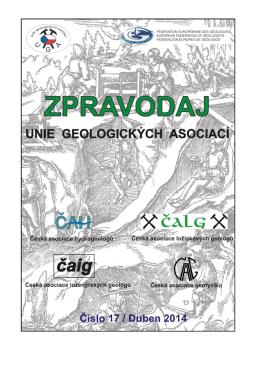 Zpravodaj UGA 17.pdf - Česká asociace ložiskových geologů