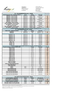 PC - POLIKARBONATNE ploče - LEXAN