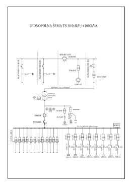 Jed. šema TS10-0,4 1x1000-4