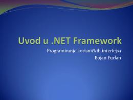 02 Uvod u dotNET Framework.pdf - Programiranje korisničkih
