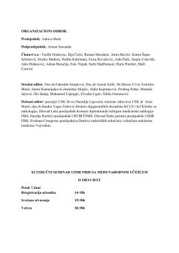 ORGANIZACIONI ODBOR: Predsjednik: Ankica Murk