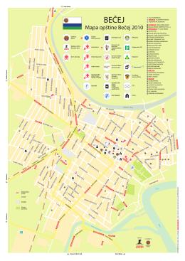 Mapa grada Becej