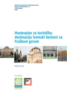 Master plan za turističku destinaciju Sremski Karlovci sa Fruškom