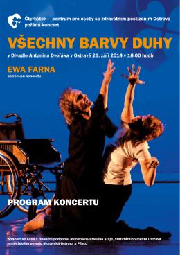 Program koncertu Všechny barvy duhy 2014