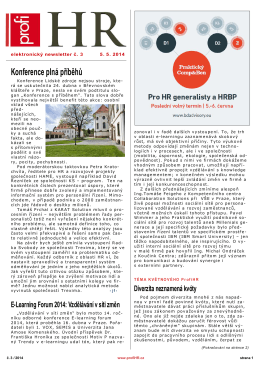 Newsletter HR 2014/3 z 13.5.2014