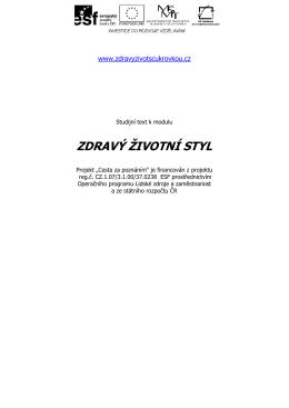 Zdravý životní styl - skripta (PDF)