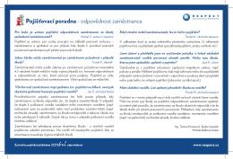 Pojišťovací poradna - odpovědnost zaměstnance