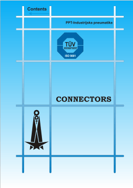 CONNECTORS - PPT-Industrijska pneumatika AD