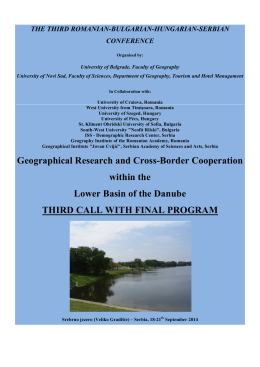 Geographical Research and Cross-Border Cooperation within the