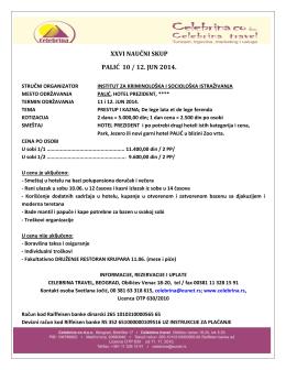 xxvi naučni skup palić 10 / 12. jun 2014.