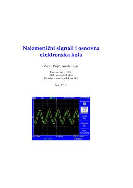 Dodatni materijal - Elektronski fakultet Nis
