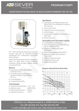 Hidroforsko postrojenje HP1