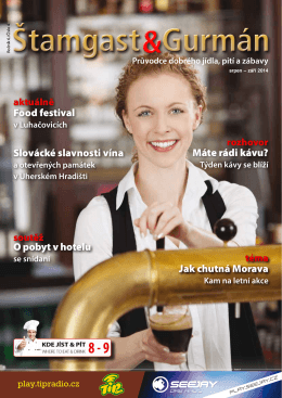 Food festival Slovácké slavnosti vína Máte rádi kávu? Jak chutná