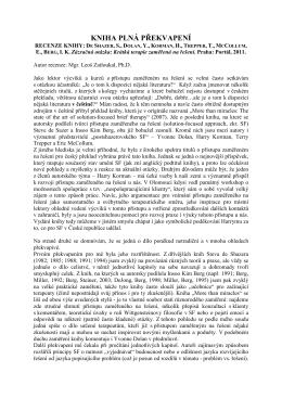 Kniha plná překvapení: Recenze knihy De Shazer, S., Dolan