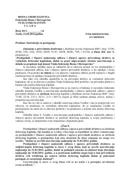 BOSNA I HERCEGOVINA Federacija Bosne i Hercegovine