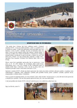 Prosinec 2014 Ročník 28 Číslo 332 SPORTOVNÍ