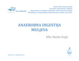 Anaerobni tretman muljeva, Marko Grgić