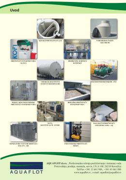 AQUAFLOT d.o.o. , Profesionalna rešenja prečišćavanja i tretmana