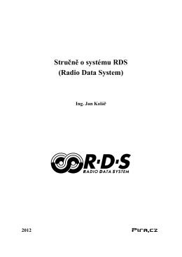 Stručně o systému RDS (Radio Data System)