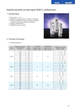 NU6 Katodni odvodnik za niski napon NU6-II
