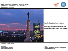 New Belgrade urban destiny: Ideology and practice under the