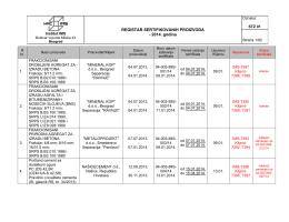 Registar 2014-obavezna sertifikacija