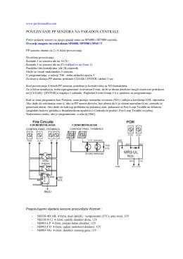 povezivanje pp senzora na paradox centrale