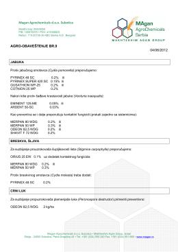 AGRO-OBAVESTENJE Br.9.pdf - Magan Agrochemicals Serbia