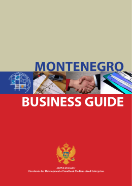 BUSINESS GUIDE MONTENEGRO