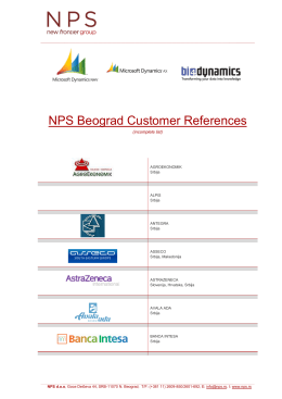 NPS Beograd Customer References
