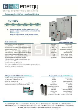 Kompenzacija reaktivne energije TLF480G