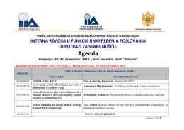 Agenda Podgorica, 29.-30. Septembar, 2014.