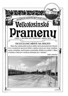 Velkolosinské prameny 07,08/2014