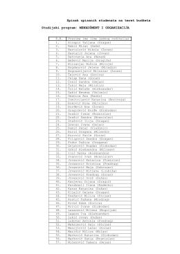 Spisak upisanih studenata