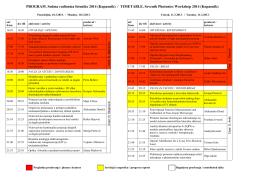Program izlaganja - Radionica fotonike