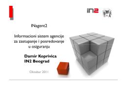 INagent2 Informacioni sistem agencije za zastupanje i