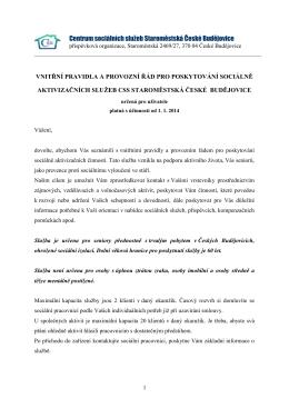 SAS Vnitřní pravidla.PDF - Centrum sociálních služeb Staroměstská