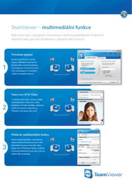TeamViewer – multimediální funkce