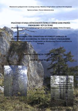 praćenje stanja oštećenosti šuma u crnoj gori prema programu icp
