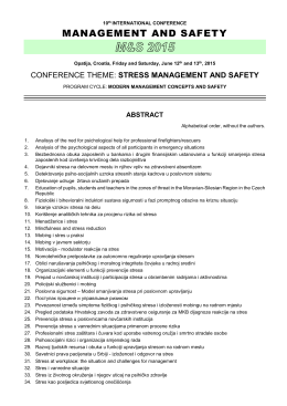 MS-2015_Abstract list - European Safety Engineer