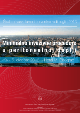Minimalno invazivne procedure u peritonealnoj duplji